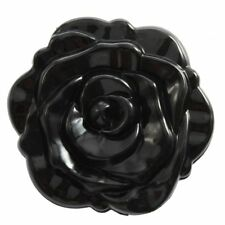 3D Stereo Cute Retro Rose Shape Makeup Compact Cosmetic pocket Mirror Black P8O7