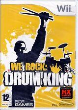 WE ROCK - DRUM KING  Wii videogioco musicale Nintendo 12+ SIGILLATO