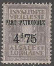 Alsace Lorraine Social Insure Revenue Yvert #ALS146 mint 4.75/9.50Fr 1938 cv$102