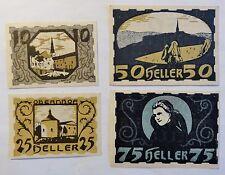 Notgeld - Ulrichsberg Österreich - 1920 - 10 + 25 + 50 + 75 Heller