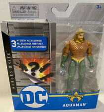 "Rare Metallic! Spin Master Aquaman DC Heroes Unite Action Figure 3.75"""