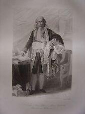 Grande gravure Portrait de Jean Etienne Marie Comte de PORTALIS Ministre cultes