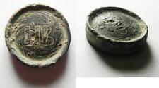 Zurqieh -as8662- Roman Bronze Weight. 2 Numismata. 9.16 Gm, With Nb Within Wreat