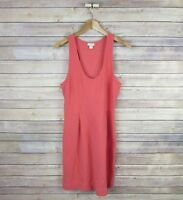 J.CREW Women's Double-knit Racerback A-line Dress SIZE 10 Pink