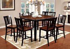 Black & Cherry CounterHeight Dining Set Table Chair Dining Room Furniture Chair