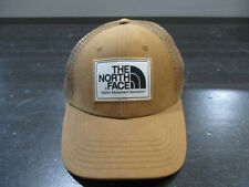 The North Face Hat Cap Brown White Mesh Trucker Adjustable Outdoors TNF Mens