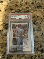 🔥🔥 Mike Trout 2012 Panini Prizm Rookie Card! PSA 8- Very Clean Resub PSA 9!