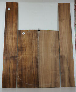 5A Hawaiian Curly Koa OM Classical Guitar Back Sides Luthier TONEWOOD  #36
