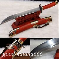 "High Quality Chinese Sword ""Qing Dao""Katana Pattern Steel Sharp Blade Hand Forge"