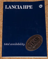 1979-81 LANCIA HPE Sales Brochure - 1600 2000 - Excellent Condition