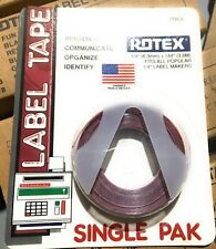 Rotex 14 Manual Embossed Label Maker Tape Red 144 New Old Stock