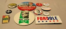 Hats, Ties, Scarves, Shirts. Some Vintage Lot of 11 Political Related Pins for