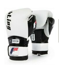 Fighting Sports S2 Gel Boxing Power Sparring Gloves - White/Black 16oz