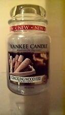 YANKEE Candle fuoco scoppiettante LEGNO GRANDE Giara candela