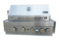 Mont Alpi 400 Grill BBQ Stainless Steel Appliance with LED Lights
