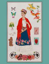 FRIDA KAHLO ~ Alexander Henry L' ARTISTA CON ALMA ~ Wall Hanging b~ Fabric Panel