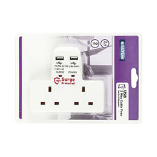 Status -2 Way Cable Free Power Socket With 2 USB Ports SURGE Protected