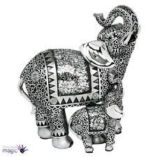 shudehill mosaïque miroir argent éléphant Bébé Cadeau d'ornement maison bureau
