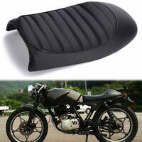 Black Cafe Racer Motorcycle Hump Seat Saddle For Suzuki GS Yamaha XJ Honda CB