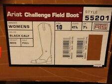 Ariat Challenge ladies zip tall field boot 10 full calf medium height  #55201