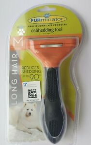 FURminator Deshedding Grooming Tool for Medium Dog Long Hair Comb Blade Brush