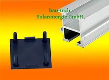 2 Endkappen für Montageprofil 33 x 38mm Alu Photovoltaik Solar PV Profil Schiene