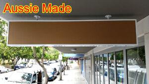 Single sided Light Box,shop light box 180x30x15cm, 2row=4 lights & 2 panels BLK
