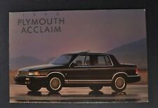 1990 Plymouth Acclaim Lx Sedan Postcard Excellent Original 90