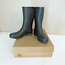 Ugg Wilshire Logo Rubber Short Rain Boot 9M Black NIB