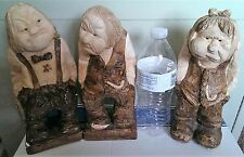 3 Vintage Ogre Old Man Statue Figurine Made in Denmark