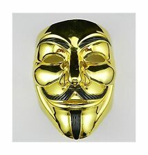 VIP Gold version V for Vendetta Mask / Anonymous / Guy Fawkes m... Free Shipping