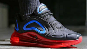 AUTHENTIC NIKE AIR MAX 720 Black Red Blue Running Gym Shoes AO2924 014 men size