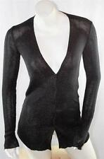 AUTH $1250 Gucci Women Black Viscose Cardigan Sweater S