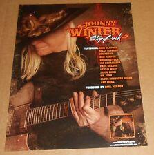 Johnny Winter Step Back Poster Original Promo 14x11