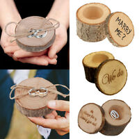 New Fashion Wooden Rustic Shabby Chic Wedding Ring Box Bearer + Ring pillow