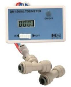 HM Digital DM-1 In-Line Dual TDS Monitor, 0-9990 ppm Range, +/- 2% Readout