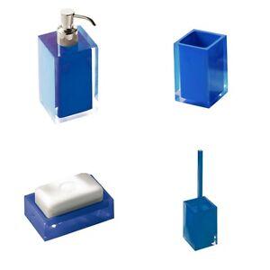 di plastica di aspirazione bagno drenante Waterfall Dish Soap Box portautensili accessori da bagno blu