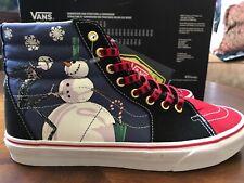 VANS SK8-Hi Mens Shoes Disney The Nightmare Before Christmas Christmas Town~ 9.5