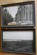 VINTAGE PHOTOGRAPH GEORGE TALLMON JONES, PAIR - YELLOWSTONE and MISSOURI PRAIRIE