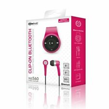 Noisehush Clip on Bluetooth Hands Free Wireless Music&Calls NS560 Headset Pink