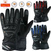 Winter Gloves Full Finger Carbon Knuckle Protective Enduro Off Road Ski Glove UK
