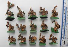 15 DWARF WARRIORS Plastic Dwarfs Dispossessed Army Warhammer late 1990s 81