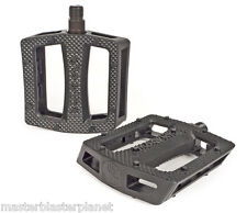 SHADOW RAVAGER PC PLASTIC PEDALS BMX BIKE BICYCLE FIT HARO SE CULT SUBROSA BLACK