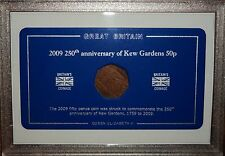 Display Storage Protection Case (no coin) for the Rare 2009 Kew Gardens 50p