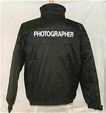 Photographer Waterproof Jacket Embroidered Front & Back size Large