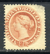 1865-1894 Newfoundland SC 28a Mint MNG - 12c Pale Red Brown Yellowish Paper*