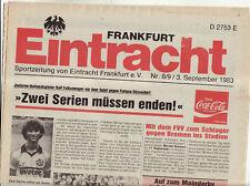 BL 83/84 Eintracht Frankfurt - Fortuna Düsseldorf