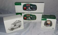 LOT OF 4 DEPT 56 HERITAGE VILLAGE COLLECTION ACCESSORIES PAINTING UTILITY VAN