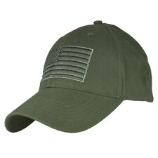 Olive Drab Green US American Flag Patch United States America Baseball Hat Cap