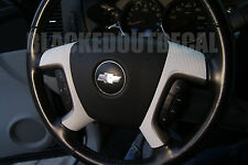 07-13  GMC / Chevy White Carbon Fiber Steering Wheel Spoke Overlay Decal Cover